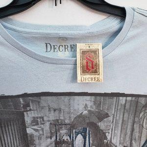 Decree Shirts - DECREE 100% COTTON T-SHIRT SIZE LARGE
